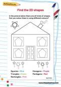 Find the 2D shapes worksheet