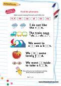 Find the phoneme worksheet