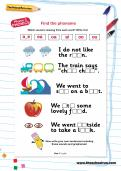 Find the phoneme worksheet