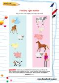 Find the right mother worksheet