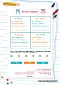 Finding multiples worksheet
