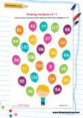 Finding multiples of 11 worksheet