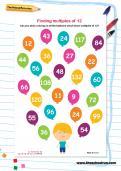 Finding multiples of 12 worksheet