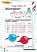 Identify multiples of 6 worksheet
