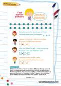 First addition problems worksheet
