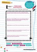Folklore tale planning frame worksheet