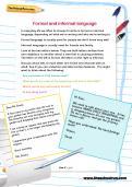 Formal and informal language worksheet
