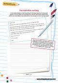 Formal letter-writing worksheet