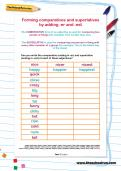 Forming comparatives and superlatives by adding -er and -est worksheet