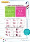 Fractions: addition and subtraction worksheet