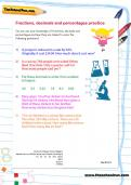 Fractions, decimals and percentages worksheet