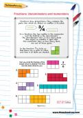 Fractions: denominators and numerators worksheet