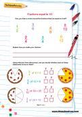 Fractions equal to one half worksheet