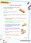 Fractions number problems worksheet