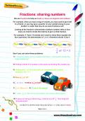 Fractions: sharing numbers worksheet