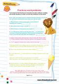 Fractions word problems worksheet