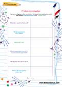 Friction investigation worksheet