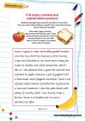 Full stops, commas and capital letters practice worksheet
