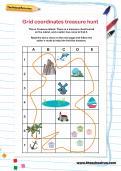 Grid coordinates treasure hunt