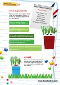 Grow a grass head activity