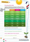 Growing diary data worksheet