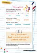 Haikus explained worksheet