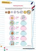 Halving amounts worksheet