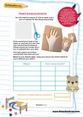 Hand measurements worksheet