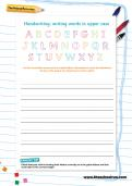 Handwriting worksheet: upper case letters
