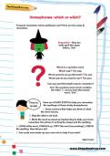 Homophones: which or which worksheet