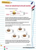 How an electrical circuit works worksheet