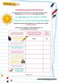 Identifying adverbial phrases worksheet
