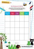 Identifying good habitats worksheet