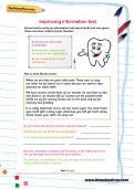 Improving information text worksheet