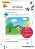 Improving writing: verbs and adverbs worksheet