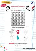 Initial sounds: g and k