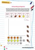 Interpreting pictograms worksheet