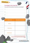 Investigate rock properties worksheet