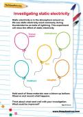 static electricity worksheets  Termolak