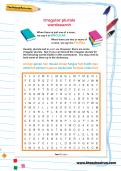 Irregular plurals wordsearch