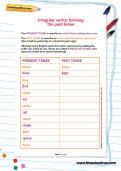 Irregular verbs: forming the past tense worksheet