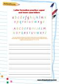 Joined-up letter formation practice: words in upper and lower case