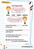 Joining words worksheet