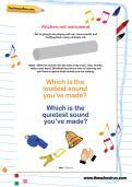Kitchen-roll instrument worksheet