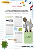 Kitchen materials worksheet