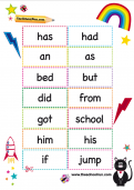 KS1 high frequency words