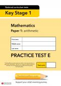 TheSchoolRun KS1 SATs maths practice paper E