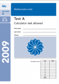 Key Stage 2 - 2009 Maths SATs Papers