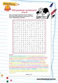 KS2 grammar wordsearch
