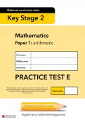 TheSchoolRun KS2 maths SATs practice paper E